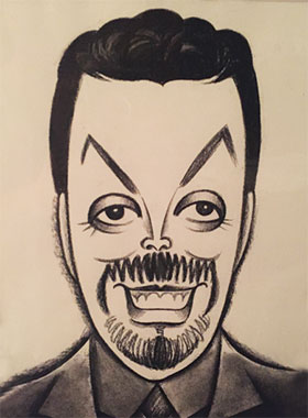 caricature drawing of Tim Curry